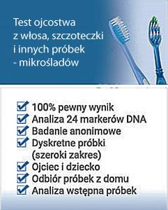 test na ojcostwo z mikrośladów